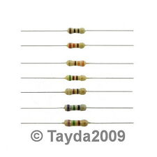 100 pcs. Resistors 220 Ohms 1W 5% Carbon Film