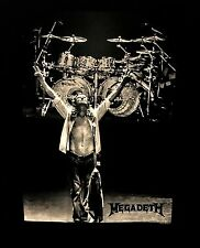 MEGADETH cd lgo Dave Mustaine YAMAHA DRUMS Official SHIRT LRG new