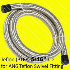 "8mm / 5/16"" (AN6 6AN) Stainless Steel Braided PTFE Fuel Oil Water Hose 1M"