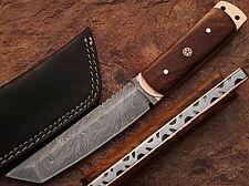Damascus Steel Tanto Point Hunting Knife Cocobolo Wood Handle (DM-2198)