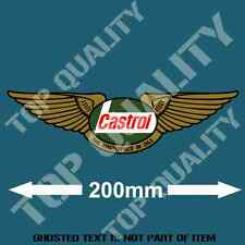 VINTAGE CASTROL DECAL STICKER SUIT ROYAL ENFIELD MOTO MOTORCYCLE DECALS STICKERS