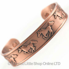 Chunky Wild Horses Magnetic Copper Bracelet 6 Magnets NdFeB Neodymium therapy