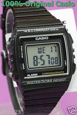 W-215H-1A Black 50m Casio Watch Unisex Digital Alarm Chronograph Resin Band New