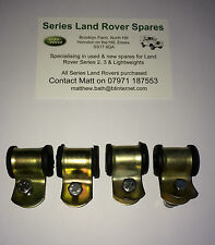Land Rover Series & Lightweight Rear Brake Pipe Clip & Rubbers x 4 + Bolts