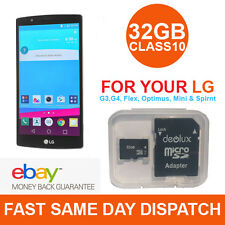 32GB MicroSD Memory Card Class10 SDHC for LG G4 G3 G FLEX2 STYLUS TABLETS - NEW