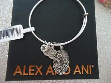 Alex and Ani Because I Love You GODMOTHER II Russian Silver Bangle W/ Card & Box