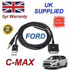 FORD CMAX 1529487 3GS 4 4s iPhone iPod USB & Aux Cable black