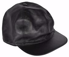 NEW Gucci Men's 368361 Black Calf Leather Baseball Cap Hat LARGE