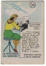 """Figurina Concorso DORIC """" Verso il 2000 """" 36  Cartificio Valdinievole Monsummano"""