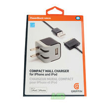 OEM Griffin Compact Wall Charger w/USB  for Apple iPod Nano 4th & 5th Gen NEW RT