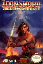 IronSword: Wizards & Warriors II 2 (Nintendo NES) Game Cartridge Iron Sword