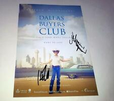 """DALLAS BUYERS CLUB PP SIGNED 12""""X8"""" POSTER MATHEW MCCONAUGHEY & JARED LETO"""