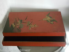Grande boite Asiatique  en bois laqué.Asian box.old China BOx