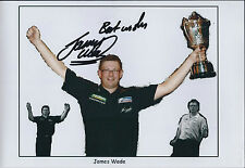 James WADE The MACHINE Signed 12x8 Autograph Montage Photo AFTAL COA Darts