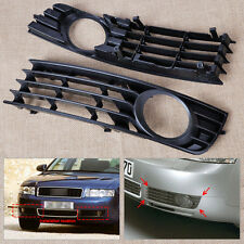 2x Front Left & Right Insert Bumper Fog Light Grille Fit For 02-2005 Audi A4 B6