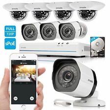 Zmodo 1080p 8Ch HDMI NVR 1.0MP HD Network IR-cut Home Security Camera System 2TB