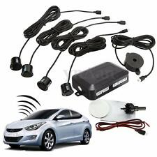 4 Parking Sensors Car Reverse Backup Rear Radar System Kit Buzzer Alert Alarm