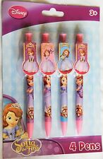 Disney Sofia the First 1st 4 pack CLIP PENS Birthday Party Bag Fillers Gifts