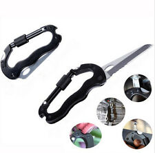 Outdoor Key Chain Climbing Carabiner Aluminum Hook Buckle D-Ring Clip Keychain