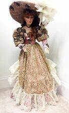 """RUSTIE """"STORMY"""" 42"""" VICTORIAN PORCELAIN DOLL by WELDON MUSEUM COLLECTIBLES w/COA"""