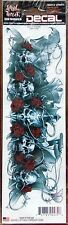 "LETHAL THREAT SKULLS N ROSES DECAL STICKER SIZE 2.72"" x 8.30"""