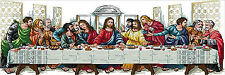 "New Stamped Cross Stitch Kit ""Last Supper"" 34""X13"" Jesus design"