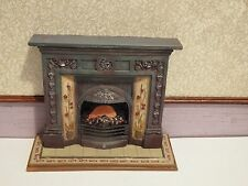 doll house emporium furniture ornate resin victorian fireplace 1.12th scale