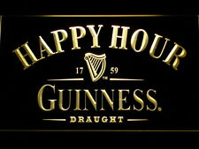 Guinness Happy Hour Bar LED Neon Light Sign Man Cave 600-Y