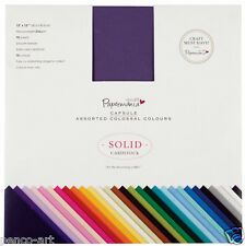 75 different solid coloured 216gsm Papermania Colossal scrapbook card 12x12""