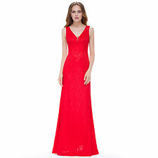 Evening Party Dress Lace Cocktail Women Long Formal Prom Bridesmaid Gown Ball UK
