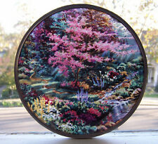 THOMAS KINKADE POOLS OF SERENITY Stained Glass, 6 Inch by GLASSMASTERS