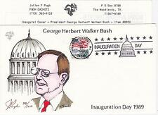 1989 FDC POUGH H/P CACHET INAUGURATION GEORGE HW BUSH KENNEBUNKPORT, ME - MAL