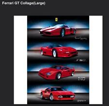 Ferrari GT Collage, Enzo,F50,F40,288 GTO Very Rare Out of Print Car Poster WOW!