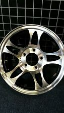 14X5.5 ALUMINUM 5 STAR TRAILER  RV WHEEL 5x4.5 PDW.T03 BLACK LOW PRICE