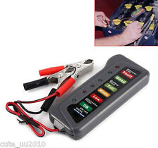 12V Volt Battery Alternator Test Tester Car Van Motorbike with 6 LED Indicators