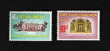 1970 RVN South Vietnam Set of 2 Stamp Asian Parliamentarians' Union APU Meeting