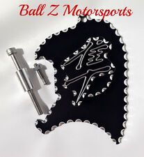 99-07 Hayabusa 3D Black/Silver Ball Cut Front Sprocket Speed Sensor Cover Plate!