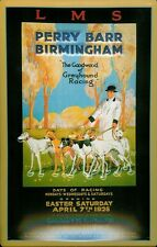 LMS Perry Barr Birmingham Greyhound Racing 1928 Blechschild Tin Sign 20 x 30 cm