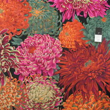 Philip Jacobs PJ41 Japanese Chrysanthemum Red Cotton Quilting Fabric By Yard