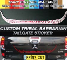 Mitsubishi L200 Barbarian CUSTOM tribal Rear Tailgate decal sticker, Warrior