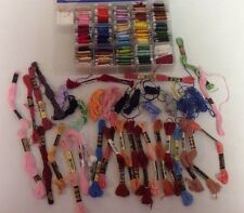 DMC  Anchor Hocking EMBROIDERY FLOSS THREAD With Case Numbered