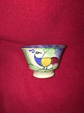 Staffordshire Spatterware Blue And Green Rainbow Peafowl Cup Spatter 1830