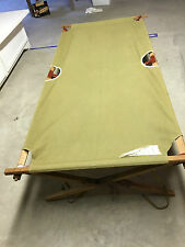 WWI or II Gold Medal Military Olive Canvas/Wood/Metal Cot Excellent ConditionUSA