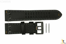 Luminox 1921.BO Atacama Field 26mm Black Leather Watch Band w/ 2 Pins 1941.BO