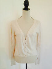 Dorothy Perkins Oatmeal Cardigan In A Tail Coat Design. Size 12