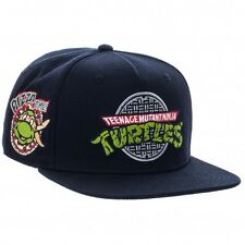 OMNI TEENAGE MUTANT NINJA TURTLES BLACK SNAPBACK HAT CAP PIZZA TIME SHREDDER NWT