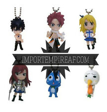 FAIRY TAIL SET 6 PORTACHIAVI figure keychain natsu plue happy gray lucy erza lot