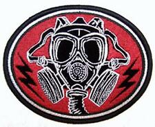 GAS MASK PATCH P5860 biker jacket patches NEW chemicals motorcycle badge WAR