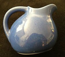 Vintage Ball Pitcher Light Blue Ceramic Creamer