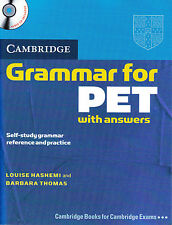 Cambridge GRAMMAR for PET w Answers & Audio CD Self-Study Reference Practice NEW